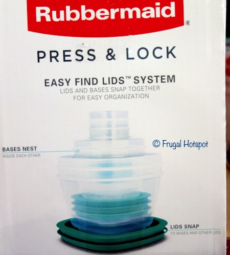 Rubbermaid Press and Lock Food Storage Costco