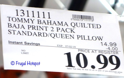 Tommy Bahama Quilted Pillow Costco Sale Price
