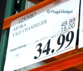 Artika Yale Chandelier Costco Sale Price