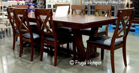Bayside Furnishings Bolton 9-Pc Dining Set Costco Display