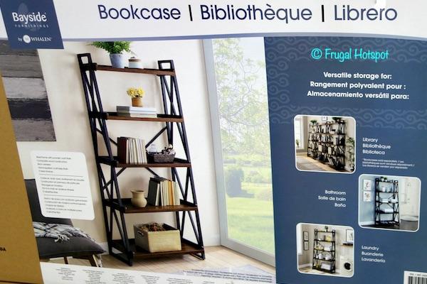 """Bayside Furnishings Elise 72"""" Ladder Bookcase Costco"""