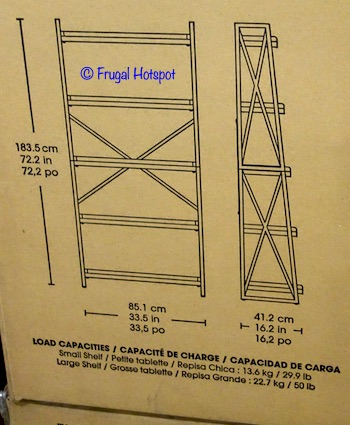 "Bayside Furnishings Elise 72"" Ladder Bookcase Dimensions Costco"