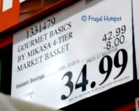 Gourmet Basics 4-Tier Market Basket Costco Sale Price