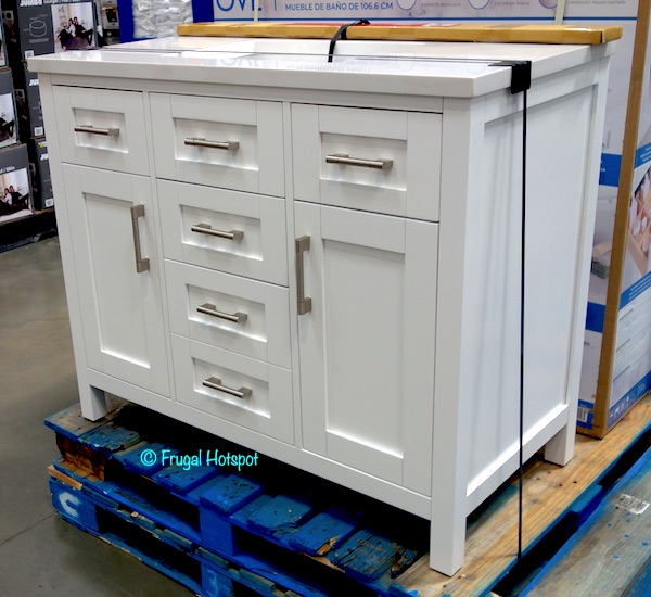 Ove 42 White Bathroom Vanity Costco Display