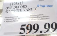 Ove 42 White Bathroom Vanity Costco Price