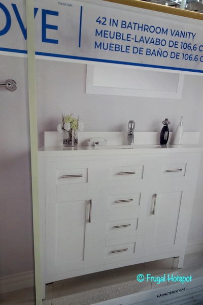 Ove 42 White Bathroom Vanity Costco
