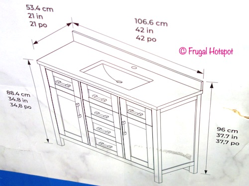 Ove 42 White Bathroom Vanity Dimensions Costco