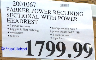 Parker Power Reclining Sectional Costco Price