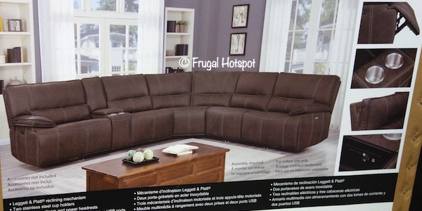 Parker Power Reclining Sectional Costco