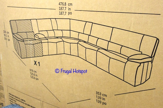 Parker Power Reclining Sectional Dimensions Costco