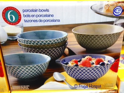 Porcelain Embossed Bowls Costco