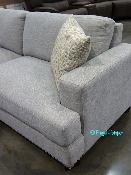 Fine Costco Sale Bainbridge Sinclair Fabric Sectional W Ottoman Gmtry Best Dining Table And Chair Ideas Images Gmtryco