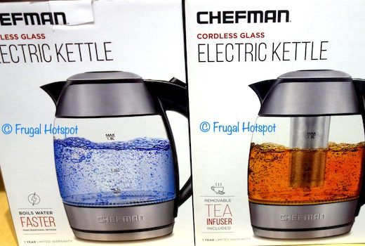 Chefman Cordless Glass Electric Kettle Costco