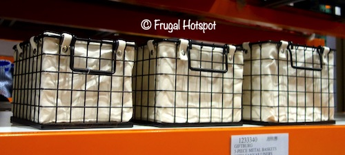 Giftburg 3-Piece Metal Wire Baskets Costco Display