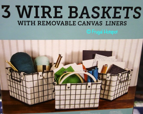 Giftburg 3-Piece Metal Wire Baskets Costco