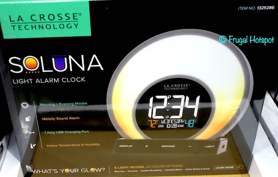La Crosse Soluna Light Alarm Clock Costco