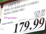 Ring Floodlight Cam and Chime Pro Costco Sale Price