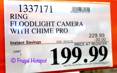 Ring Floodlight Cam n Chime Pro Costco Sale Price