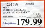 Ring Wireless Security Kit Costco Sale Price