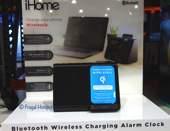 iHome Alarm Clock + Charger Costco Display