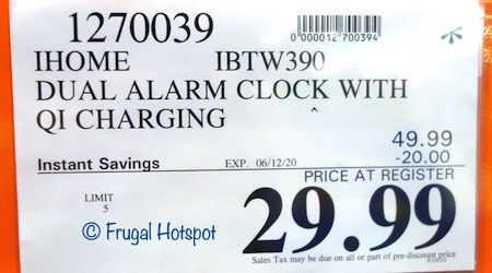 iHome Alarm Clock Charger Costco Sale Price