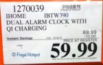 iHome Alarm Clock + Charger Costco Sale Price