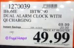 iHome Alarm Clock and Charger Costco Sale Price