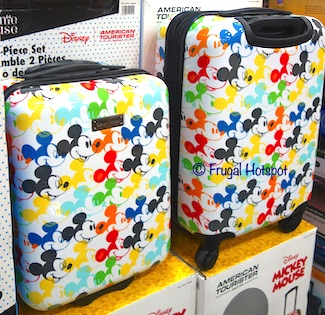 American Tourister Disney Hardside Carry-on Luggage Mickey Mouse or Minnie Mouse Costco