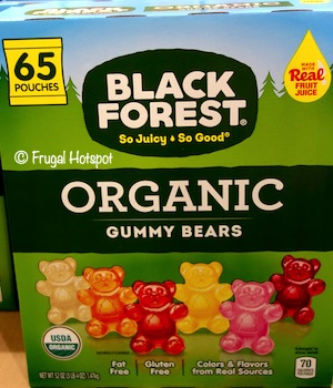 Black Forest Organic Gummy Bears 65-pouches Costco