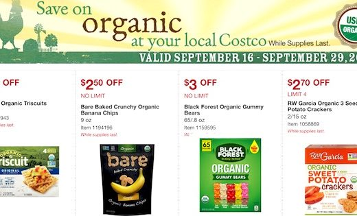 Costco ORGANIC Coupon Book September 2019 Page 1