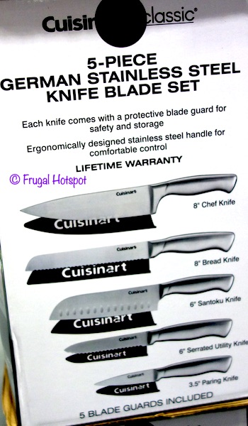 Cuisinart Classic 5-Piece German Stainless Steel Knife Blade Set Costco