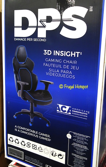 DPS 3D Insight Gaming Chair Blue Costco