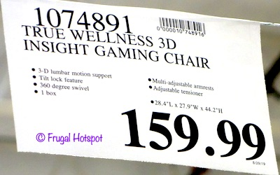 DPS 3D Insight Gaming Chair Costco price