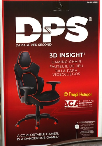 DPS 3D Insight Gaming Chair Red Costco