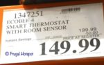 Ecobee4 Smart Thermostat with Room Sensor Costco Sale Price