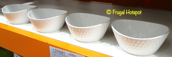 Over and Back What a Dish! Porcelain Serving Bowls 4-Count Costco Display