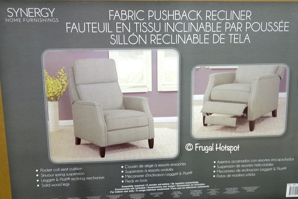 Synergy Home Kammi Pushback Recliner Costco