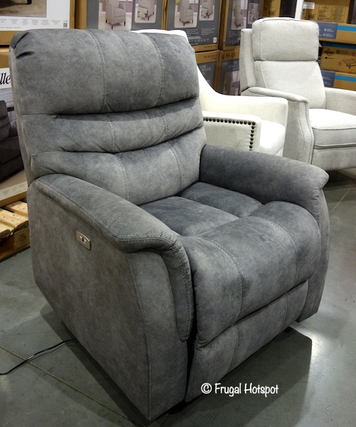 Thomasville Felix Fabric Power Swivel Glider Recliner Costco Display