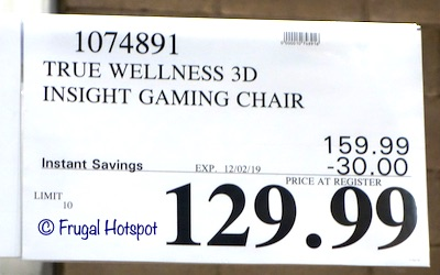 True Innovations DPS 3D Insight Gaming Chair Costco Sale Price