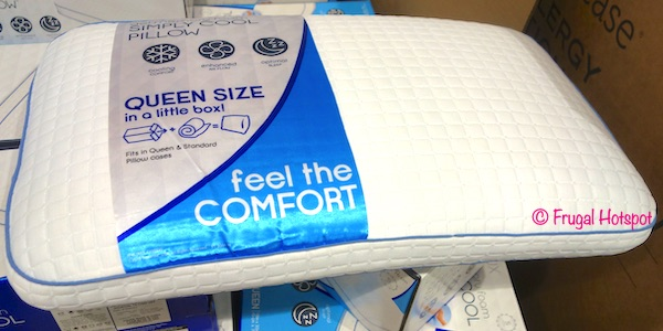pureLUX Gel Memory Foam Simply Cool Pillow Queen Size Costco Display