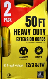 Anderson Industries 50 Ft. Heavy Duty Extension Cords 2-Pack Costco