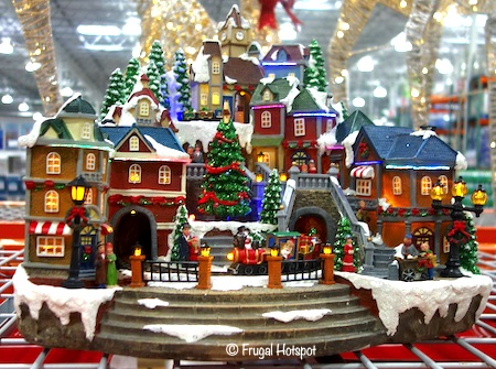 Animated Winter Train Village with Lights and Music Costco