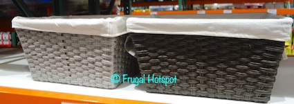 Baum Faux Wicker Bin with Liner Costco Display