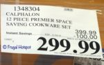 Calphalon Premier Hard Anodized Nonstick Space-Saving 12-Piece Cookware Costco Sale Price