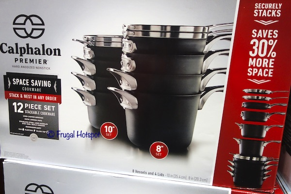 Calphalon Premier Hard Anodized Nonstick Space-Saving 12-Piece Cookware Costco