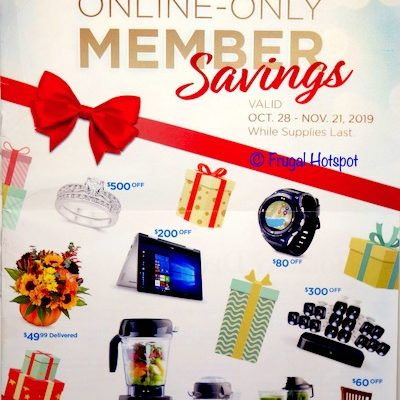 Costco.com Member Savings – October 28, 2019 – November 21, 2019 Cover