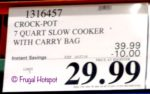 Crock-Pot Cook Carry 7 Slow Cooker Costco Sale Price