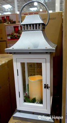 Decorative Lantern LED Flickering Candle Costco