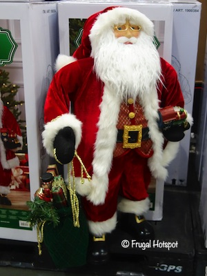 Fabric Santa with Toy Bag Costco