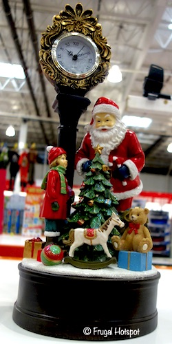 Holiday Clock Santa with LED Tree Costco